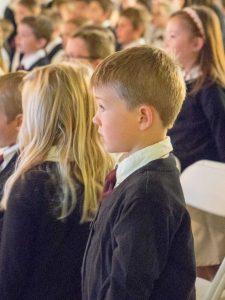 young boy at chapel