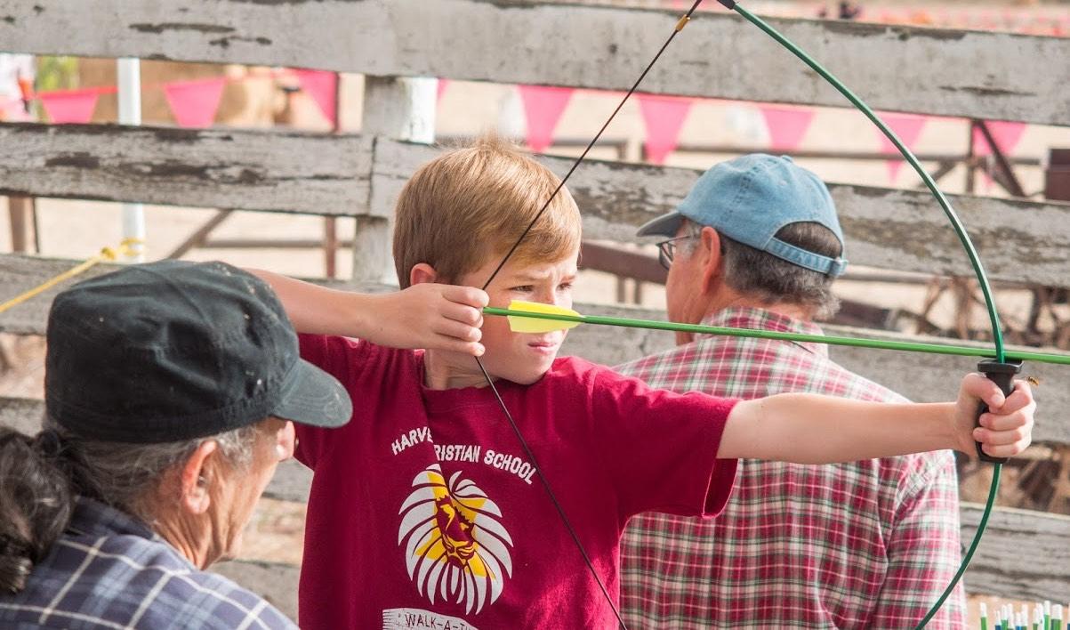 archery at hcs carnival