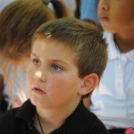 attentive boy student